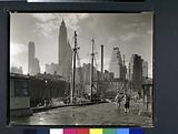Fulton Street Dock, Manhattan skyline, Manhattan