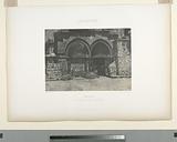 Palestine, Jérusalem, arcades inférieures de l'Église du Saint-Sépulcre