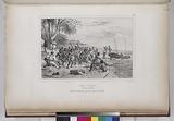 Baie Jervis, (Nouvelle Hollande.) Les marins de l'Astrolabe partagent leur péche avec les naturels