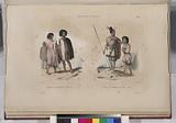 Nouvelle – Zélande, Costume des Guerriers de Shouraki, Costume des habitans de Houa-Houa