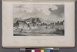 Vue de la place d'armes, A Amboine, (Molugues.)