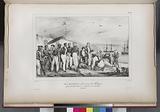 Mr Merkus, Gouverneur des Molugues, offreant des Babi-roussas à l' expédition de l'Astrolade