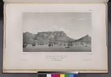 Vue de la ville du cap, et de la montagne de la table, (Cap de Bonne Espérance.)