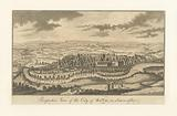 Perspective view of the city of Bath, in Somersetshire