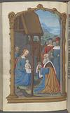 Full-page miniature of the Adoration of the Magi