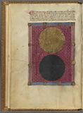 Miniature of day and night, light and dark, with text, initials, linefiller, placemarkers
