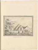 """Mounted pencil drawing of St Mary's Church, Hampton Lovett, signed """"MAF, 1821"""""""
