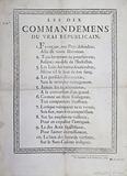 The Ten Commandments of the True Republicain
