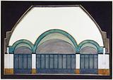 Agence de l'Architecture du Bois d'Auberville. Template of the arches of the village hall of the Maison des Centraux.