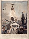 French Revolution. Allegory on the Constitution of 1791. Statuary dedication and tomb of Mirabeau.