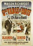 Richardot House. Gde branch. Host table. 6, Rue du Mail. 124, Rue de Rivoli. Ask for the Filet Richardot. Lunches.