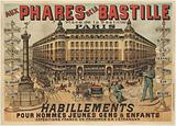 At the Bastille Lighthouses. Bastille's Place. Paris. Clothing for Men Young People & Children.