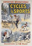 "International Exhibition ""Cycles & Sports"". Plaza de Toros. 58, Street. Pergolesi. Opening 12 March."