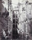 Ruins of the Commune: Hôtel de Ville, corridor of the central courtyard, to the east, 4th arrondissement, Paris