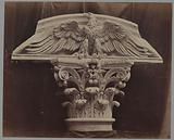 Eagle on Corinthian capital, architectural detail of the decorations of the Palais Garnier (now the Opéra national de …)