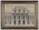 Elevation of the major face of the Royal Palace