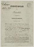 Commitment by Jean-Baptiste Deburau at the Funambules theatre on 10 December 1826