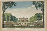 46th Vüe d'Optique representative. The Garden and the Hotel d'Evreux belonging to Madame la Marquise de Pompadour.