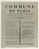 Municipality of Paris. Extract from the Register of Deliberations of the General Council.