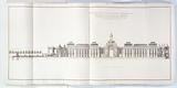 Recueil Marigny: Elevation along the length of the facade of the Place de Louis XV