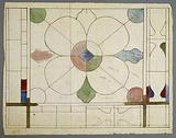 Stained glass panel project with quadrilobed decoration