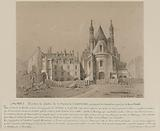 View of the Oratory church and remains of the cloister during its demolition for the construction of the rue de Rivoli …