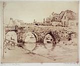 Dinan. The old bridge.