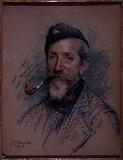 Portrait of painter decorator Karbowski during the war
