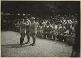 Canadian camp at St-Cloud: General de Sailly decorates lieutenant de la Selle