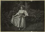 Party at the green theatre of Livry or Sévigné. Miss Meunier from the Opera.