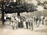 La Commune 1871. Soldiers from Versailles on the terrace by the water's edge, Jardin des Tuileries, 1st ….