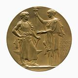Medal offered to the Parisian company of lighting and gas heating by the Academy of Moral and Political Sciences on …
