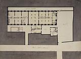 Plan of the ground floor of the Cordeliers convent, transformed into a School of Mechanics and School of Mosaic
