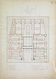 Plan of an expansion project for the Palais de Justice in Paris