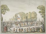 Revolutionary procession, parade of patriots