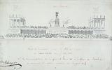 Decoration project on the Pont-Neuf for the feast given on the occasion of the entry of Louis XVIII
