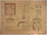 Central halls: layout of the ground floor, details relating to the sale of fish