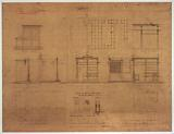 Halles centrale: general plan of the meat market at the auction, elevation of the shops