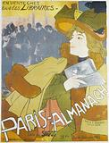 On sale at all booksellers. Paris-Almanac. Text by E Goudeau, Illustrated by Dillon. Published by Sagot.