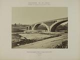 Diversion of the Vanne – Crossing the Loing valley upstream of Moret – Agglomerated concrete arches supporting the 2 …