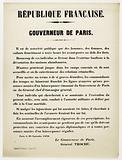 French Republic. Governor of Paris.