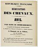 French Republic. Requisition of Horses. Notice.