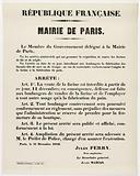 French Republic. Paris City Hall.