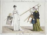 Le Bon Genre N°17. Mademoiselle Pastel, followed by her Mother.