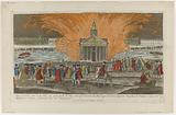 Fireworks fired at Place de Louis XV on 30 May 1770 on the occasion of the Marriage of Louis Auguste Dauphin of France …