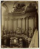 Large organ, interior of Saint Sulpice church, 6th arrondissement, Paris