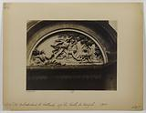 """Tympanum representing """"Romulus and Rémus suckled by the Louve found by the shepherd Faustulus, steward of the herds of …"""""""