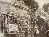 """""""The animal circus"""" and """"the monkey palace"""", attractions, Invalides funfair, 7th arrondissement, Paris"""