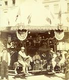 Mechanical carousel at the Gobelins funfair, 14 July 1899, 13th arrondissement, Paris