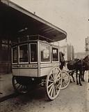 Small omnibus for travelers, Gare du Nord, 10th arrondissement, Paris